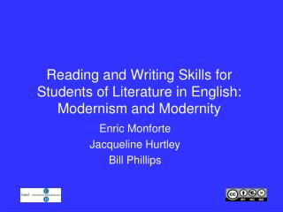 Reading and Writing Skills for Students of Literature in English: Modernism and Modernity