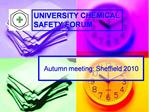 Autumn meeting: Sheffield 2010