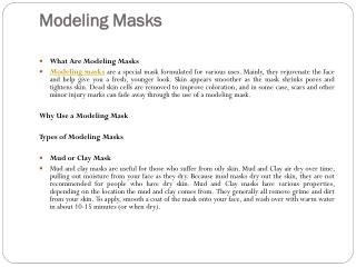 Modeling Masks