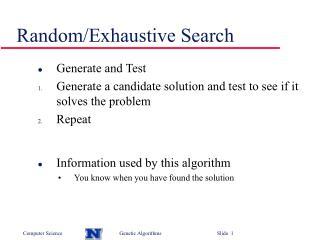 Random/Exhaustive Search