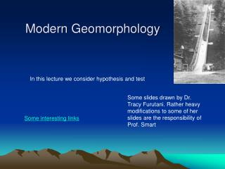 Modern Geomorphology