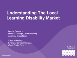 Understanding The Local Learning Disability Market