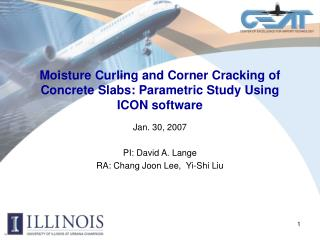 Moisture Curling and Corner Cracking of Concrete Slabs: Parametric Study Using ICON software