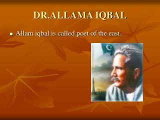 DR.ALLAMA IQBAL