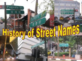 History of Street Names