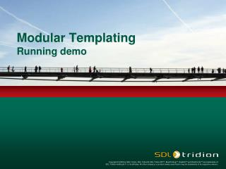 Modular Templating Running demo