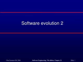 Software evolution 2