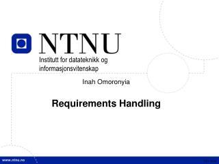 Inah Omoronyia Requirements Handling