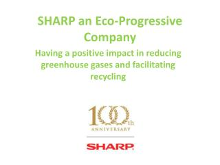 SHARP an Eco-Progressive  Company