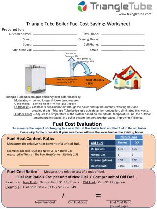 Triangle Tube Boiler Fuel Cost Savings Worksheet
