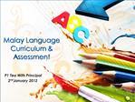 Malay Language Curriculum Assessment