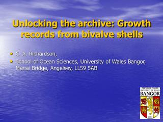 Unlocking the archive: Growth records from bivalve shells