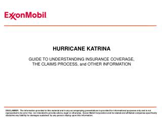 hurricane katrina  guide to understanding insurance coverage, the claims process, and other information