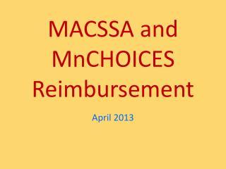 MACSSA and MnCHOICES Reimbursement