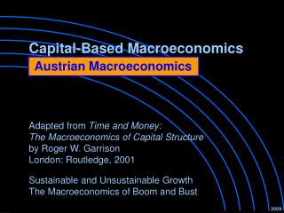 Capital-Based Macroeconomics