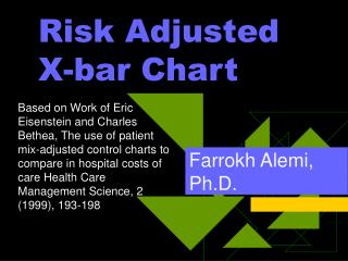 risk adjusted  x-bar chart
