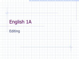 English 1A