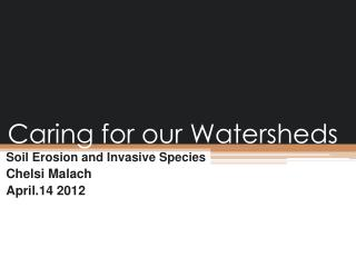 Caring for our Watersheds