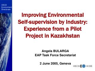 Improving Environmental  Self-supervision by Industry: Experience from a Pilot Project in Kazakhstan