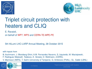 Triplet circuit protection with heaters and CLIQ