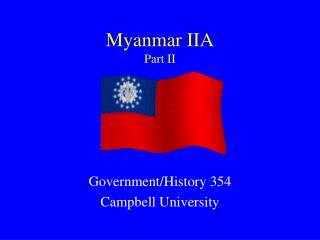 Myanmar IIA Part II