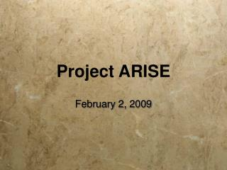 Project ARISE