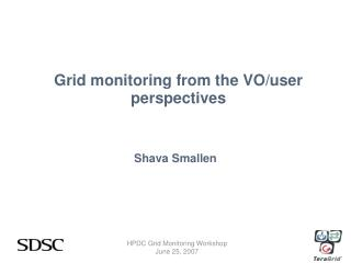 Grid monitoring from the VO