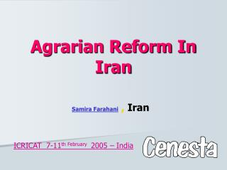 Agrarian Reform In Iran