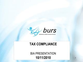 TAX COMPLIANCE BIA PRESENTATION 10/11/2010