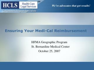 Ensuring Your Medi-Cal Reimbursement