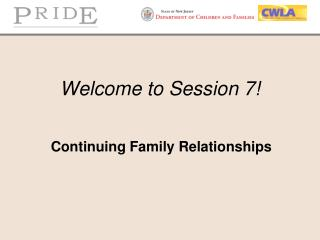 Welcome to Session 7!