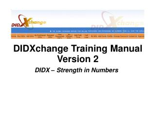 DIDXchange Training Manual Version 2