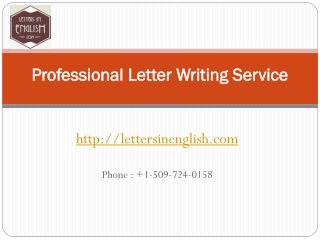 Professional letter writing service