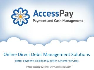 Online Setup Direct Debit Management Software