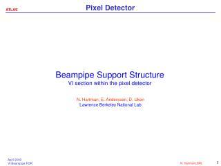 Beampipe Support Structure VI section within the pixel detector