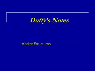 Duffy's Notes