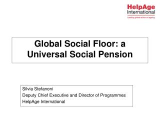 Global Social Floor: a Universal Social Pension