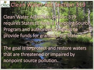 Clean Water A ct S ection 319