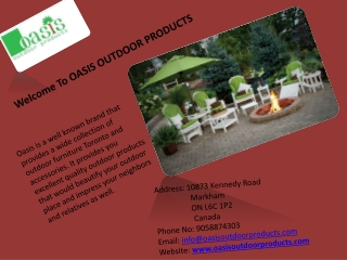 Welcome To OASIS OUTDOOR PRODUCTS.pptx