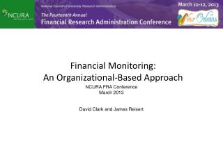 Financial Monitoring:  An  Organizational-Based  Approach