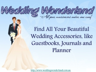Wedding guestbooks by wedding wonderland