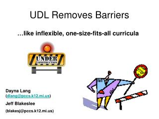 UDL Removes Barriers