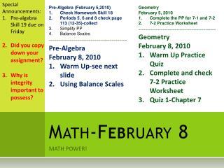 Math-F eb ruary 8