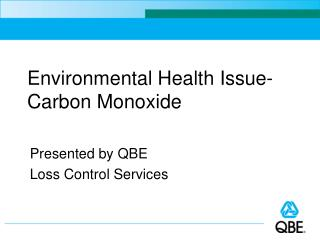 Environmental Health Issue- Carbon Monoxide