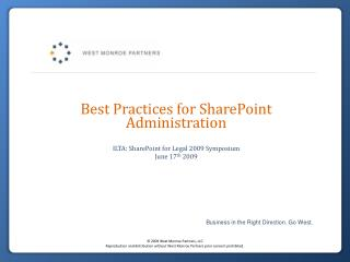 Best Practices for SharePoint Administration