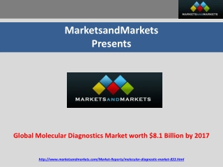 Molecular Diagnostics Market : Trends , Opportunities and  M