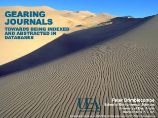 GEARING JOURNALS TOWARDS BEING INDEXED AND ABSTRACTED IN DATABASES