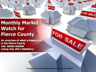 Monthly Market Watch for Pierce County