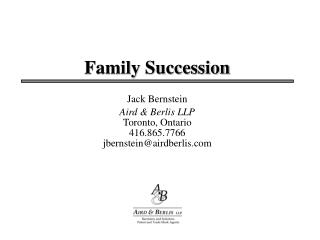 Family Succession