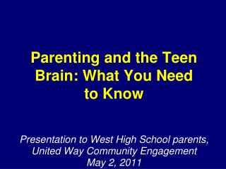 Parenting and the Teen Brain: What You Need to Know